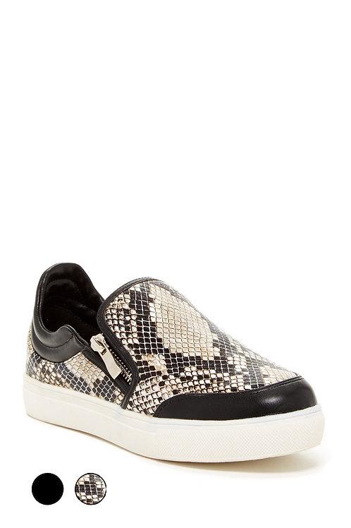 ALLIE side zipper slip on Sneakers