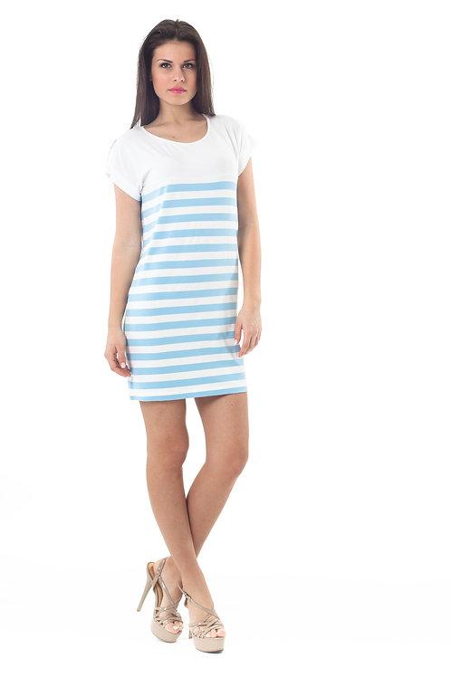 Short Sleeved Striped Dress