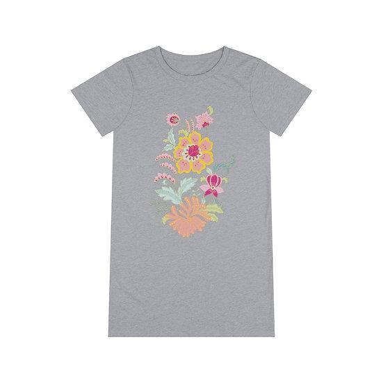 Pastel Bouquet Organic T-Shirt Dress