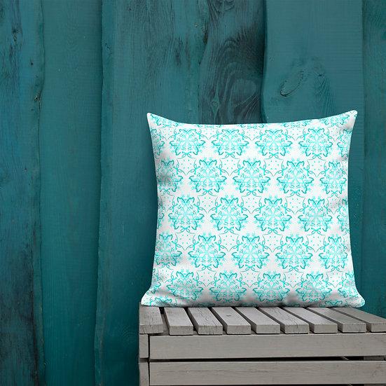 Blue Patterned Comp. Premium Pillow