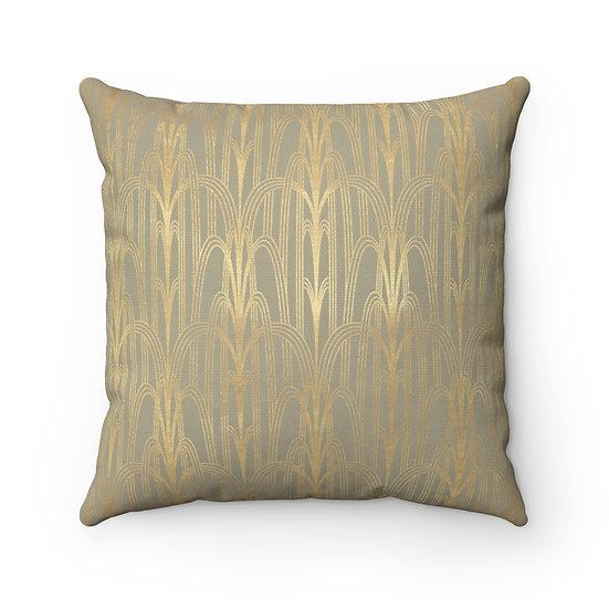 Gold Art Deco/Chicago Spun Polyester Square Pillow
