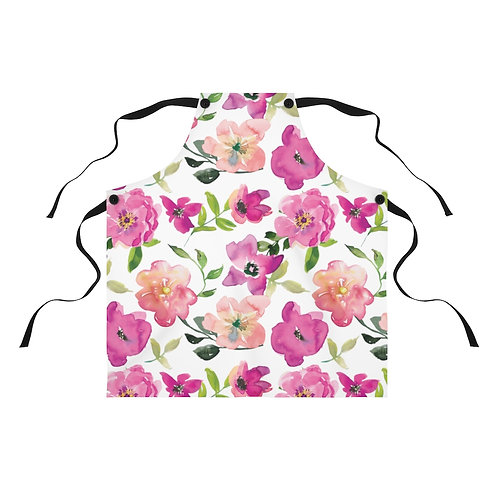 Blush and Pink Floral Apron