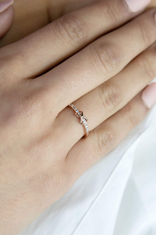 Augusta - Rose Gold Vermeil Ring