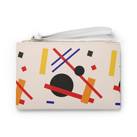 Abstract Shapes Clutch Bag