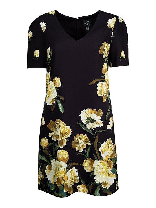 Adrianna Papell Golden Blossom Day Dress