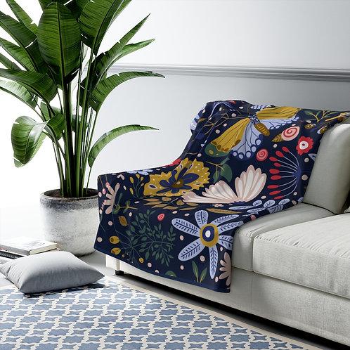 Copy of Blue Garden #1. Sherpa Fleece Blanket