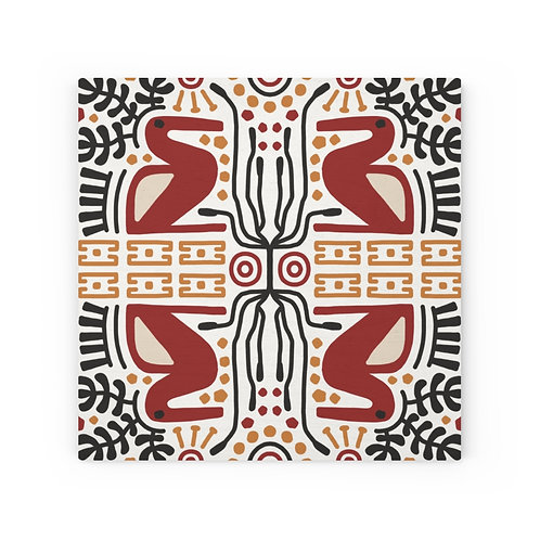 African pattern #2 Wood canvas
