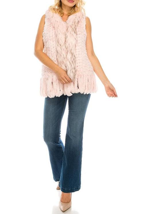 Sioni Faux Fur Vest with Fringes