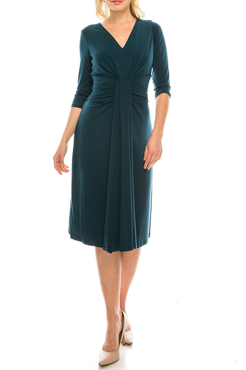 Maggy London Night Pine Draped Midsection Sheath Dress