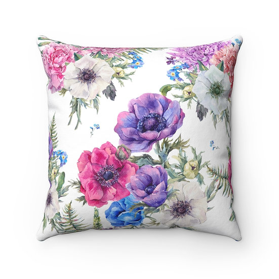 Anemones 2 Spun Polyester Square Pillow