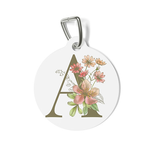 Personalized Floral Tag - A