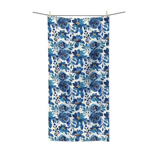Blue Roses Polycotton Towel