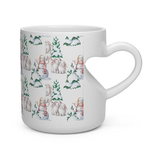 Christmas Heart Shape Mug