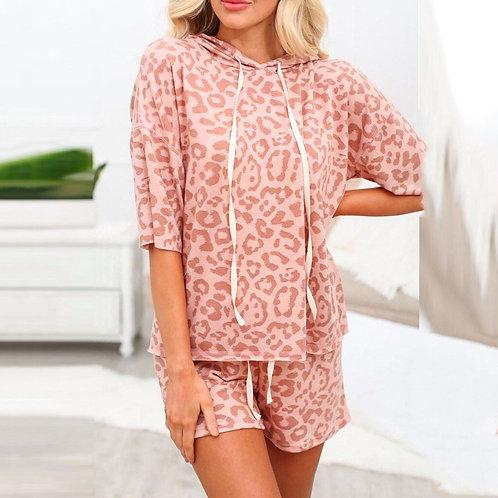 Boho Polka Dot Women Jumpsuits Pink Short Sleeve Sashes Female