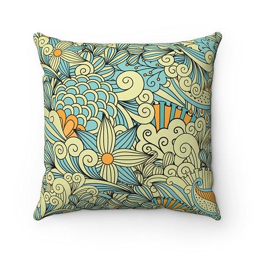 Garden MeleSpun Polyester Square Pillow