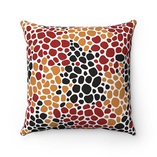 African #7 Spun Polyester Square Pillow