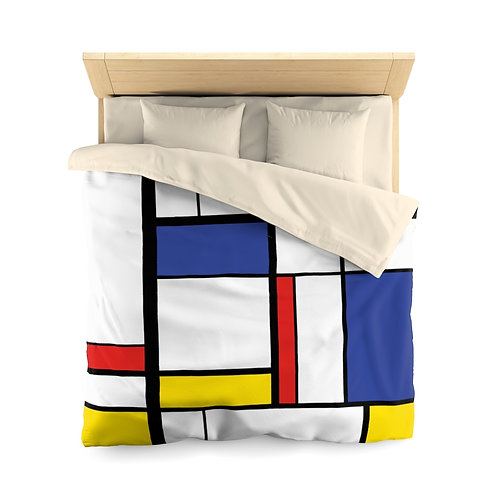 Color Abstract Microfiber Duvet Cover
