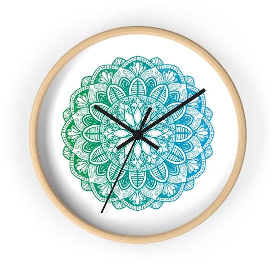 Mandala Teal Wall clock