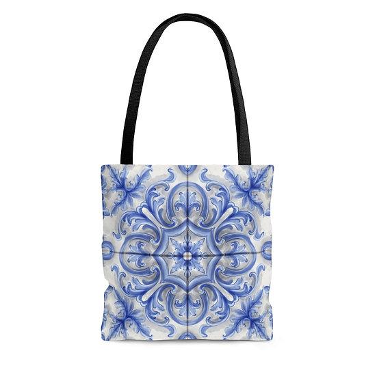 Blue Dutch Tile Tote Bag