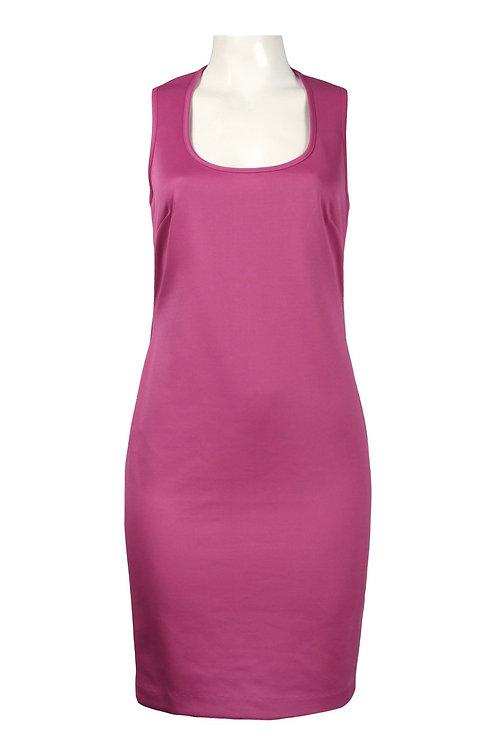 Donna Morgan U-Neckline Lace Back Detail Scuba Dress