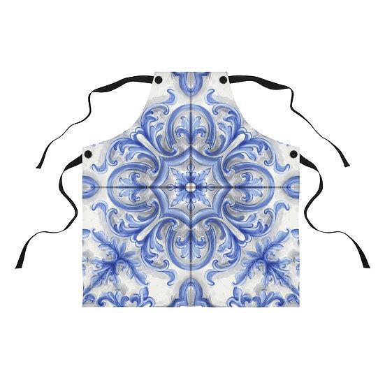Dutch Blue Tile Apron