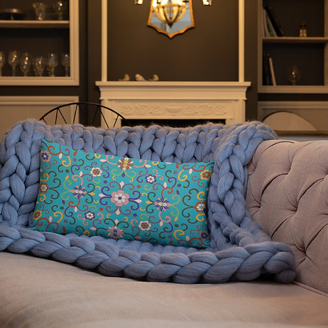 Joy Persian. Green Premium Pillow
