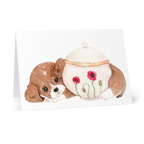 """""""Little Cute Animal's Tea Party"""" Series #2 Greeting Cards (8 pcs)"""