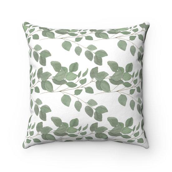 Leaves Spun Polyester Square Pillow
