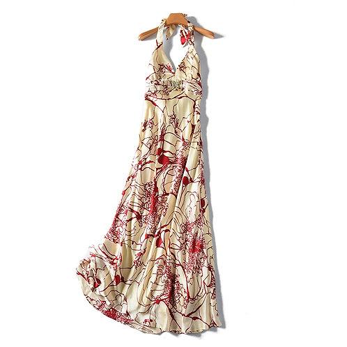 100% Natural Silk Print Dress