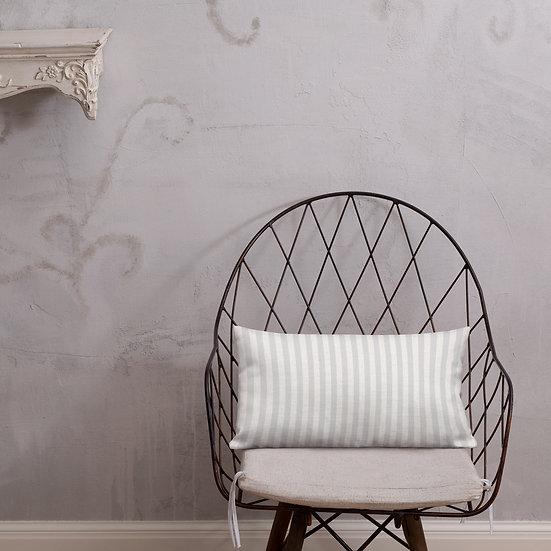 Gray Stripes Premium Pillow
