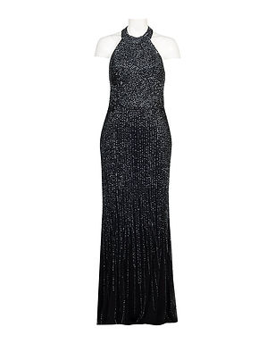 Adrianna Papell Beaded Mermaid Evening Gown