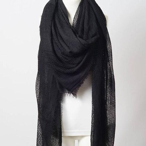 Perfect Square Black Blanket Scarf
