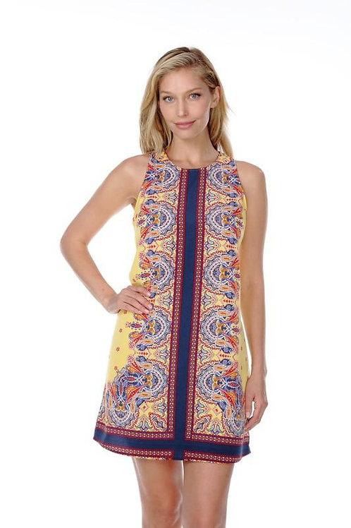 Boho Sleeveless Print Dress