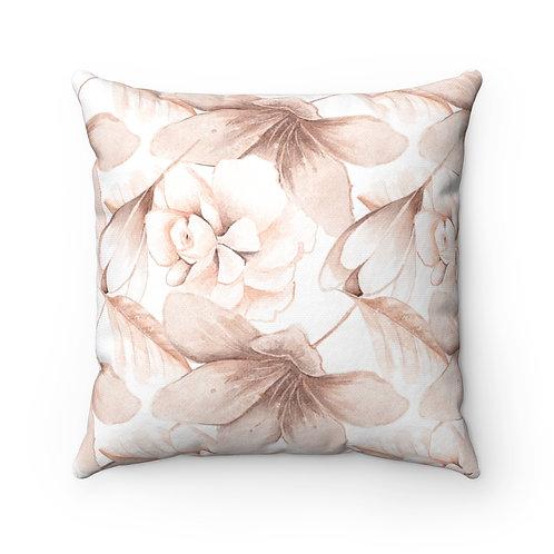 Blush Watercolor #100 Spun Polyester Square Pillow