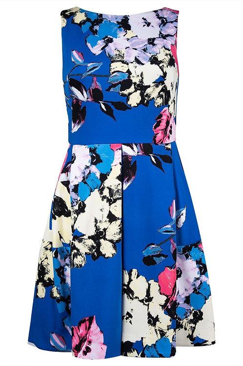 J Taylor Sleeveless Floral Print Short Dress