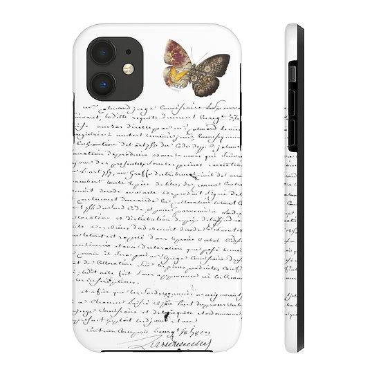 Butterfly & French Letter Case Mate Tough Phone Cases
