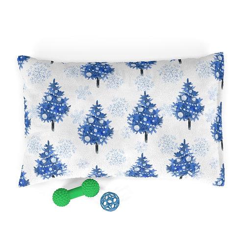 Blue Christmas Magic Pet Bed
