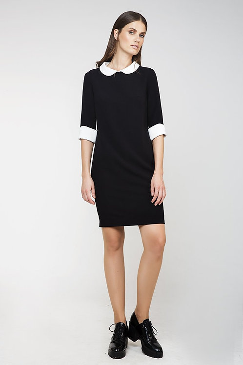Straight Dress with Contrast Details