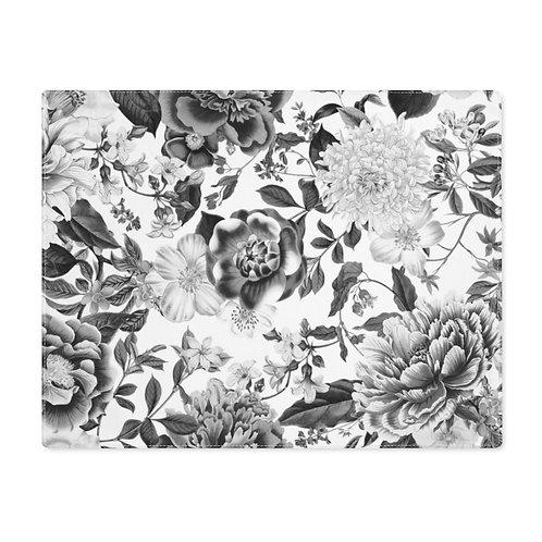 English Garden Black & White Placemat