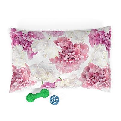 Pink Peonies Pet Bed