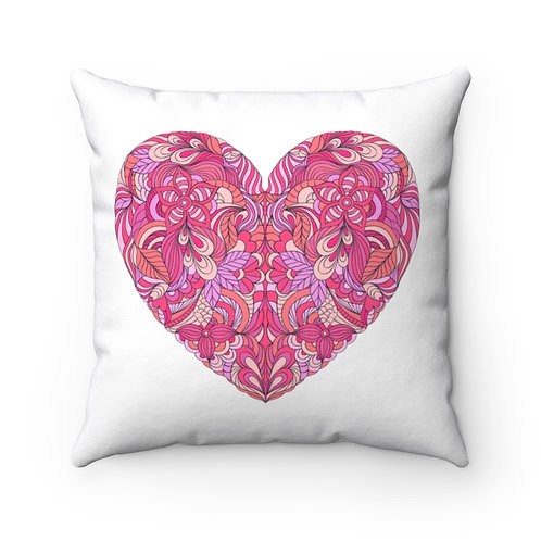 Heartfelt Spun Polyester Square Pillow