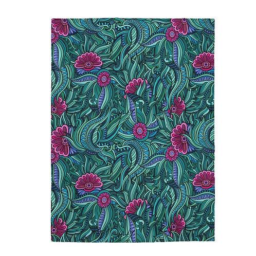 Garden Menagerie Velveteen Plush Blanket