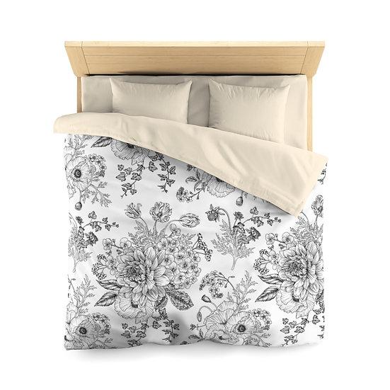 Garden Sketches Microfiber Duvet Cover