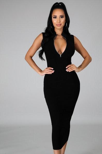 Maya Black Dress