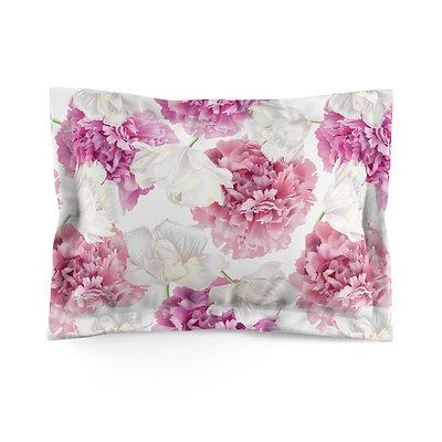 Pink Peonies Microfiber Pillow Sham