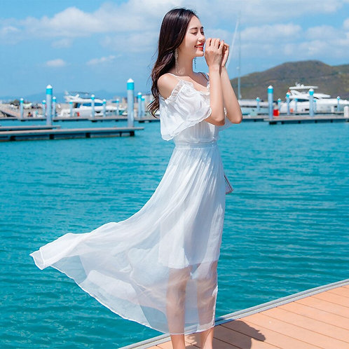 100% Real Silks slim line Bohemian style Dress