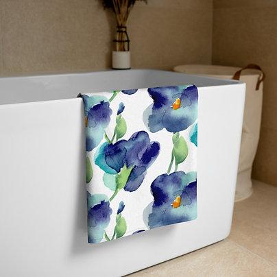 Blue Petunia Towel