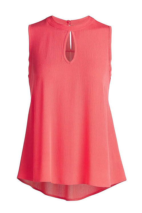 Sleeveless Top with Rounded Hem