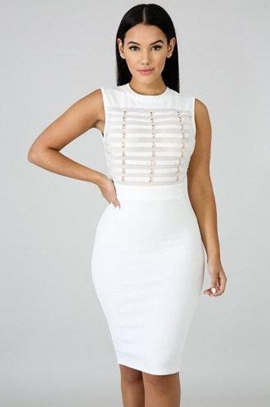 Clarissa White Dress