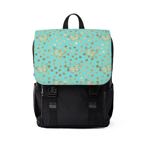 Golden Butterflys Shoulder Backpack